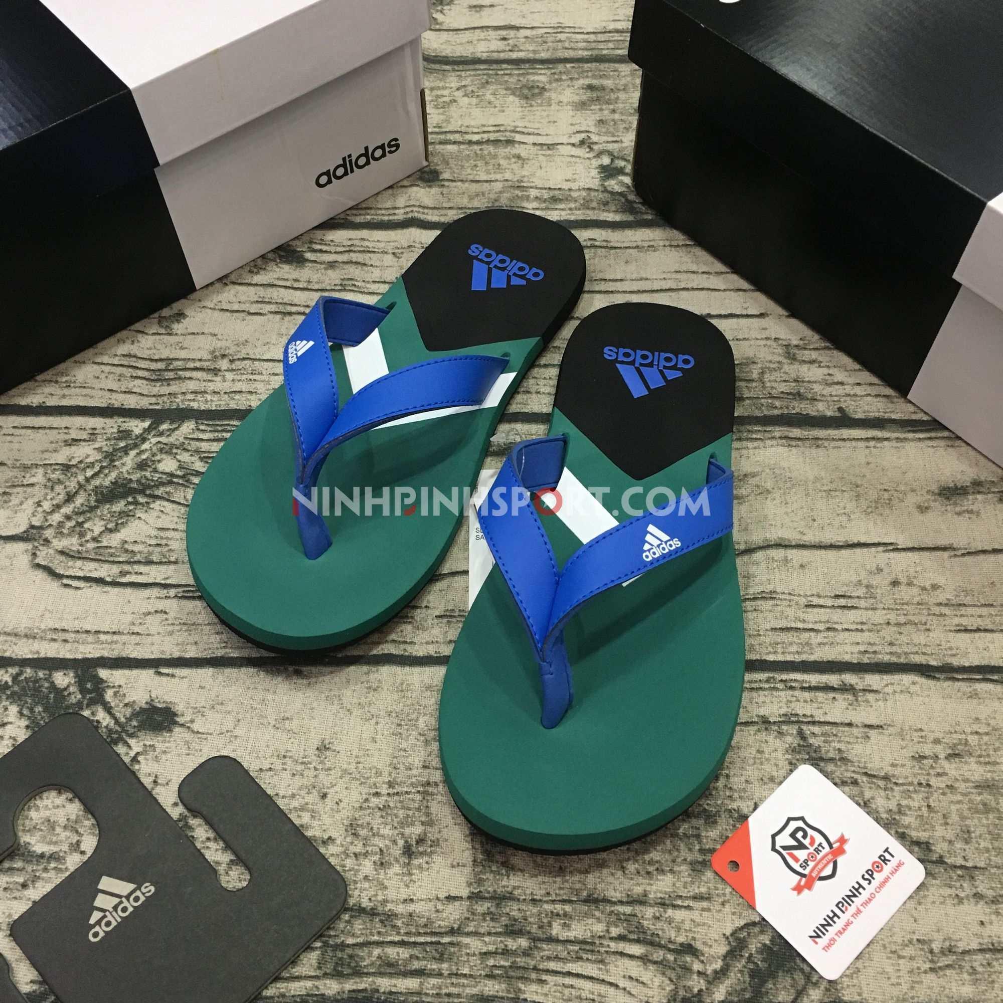 Tông thể thao nam Adidas Eezay Flip-Flops Blue F35025