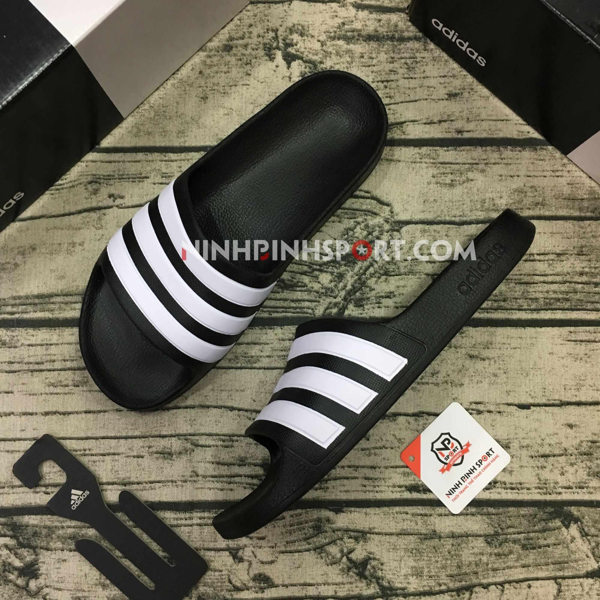 Dép thể thao nam Adidas Adilette Aqua Black F35556