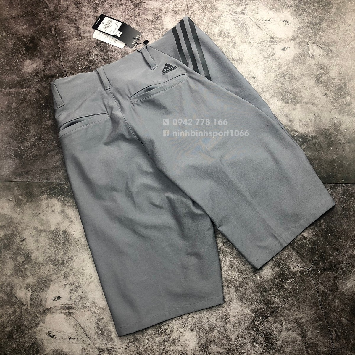 Quần thể thao nam Adidas Ultimate365 3-Stripes Competition - Grey Three FJ9879