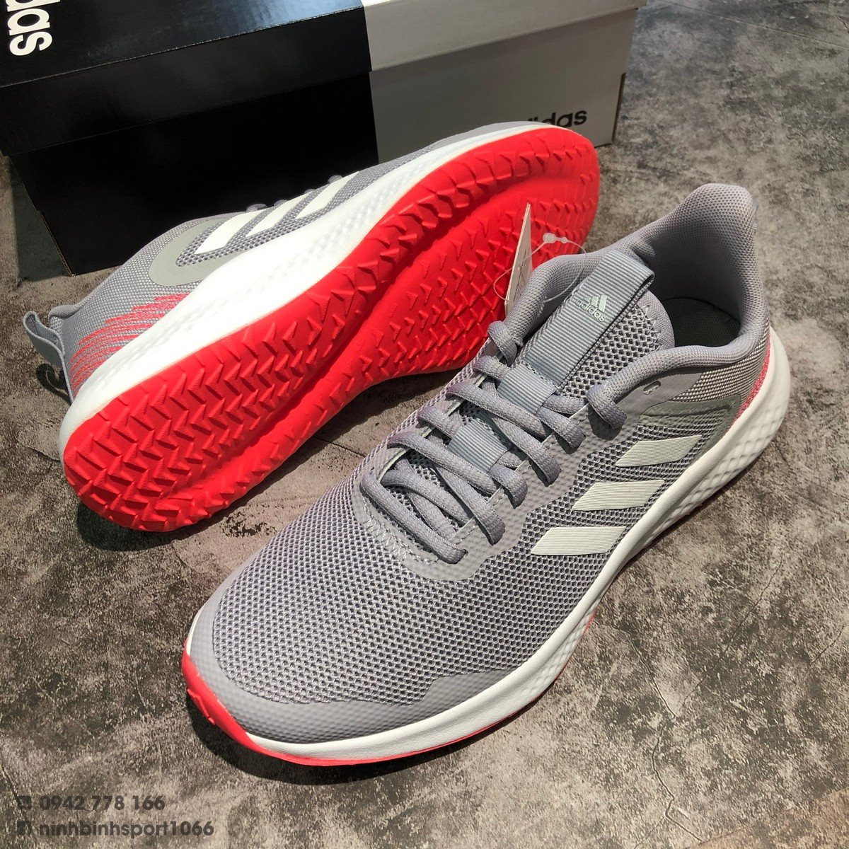 Giầy thể thao nữ Adidas Fluidstreet Shoes Grey FW1715