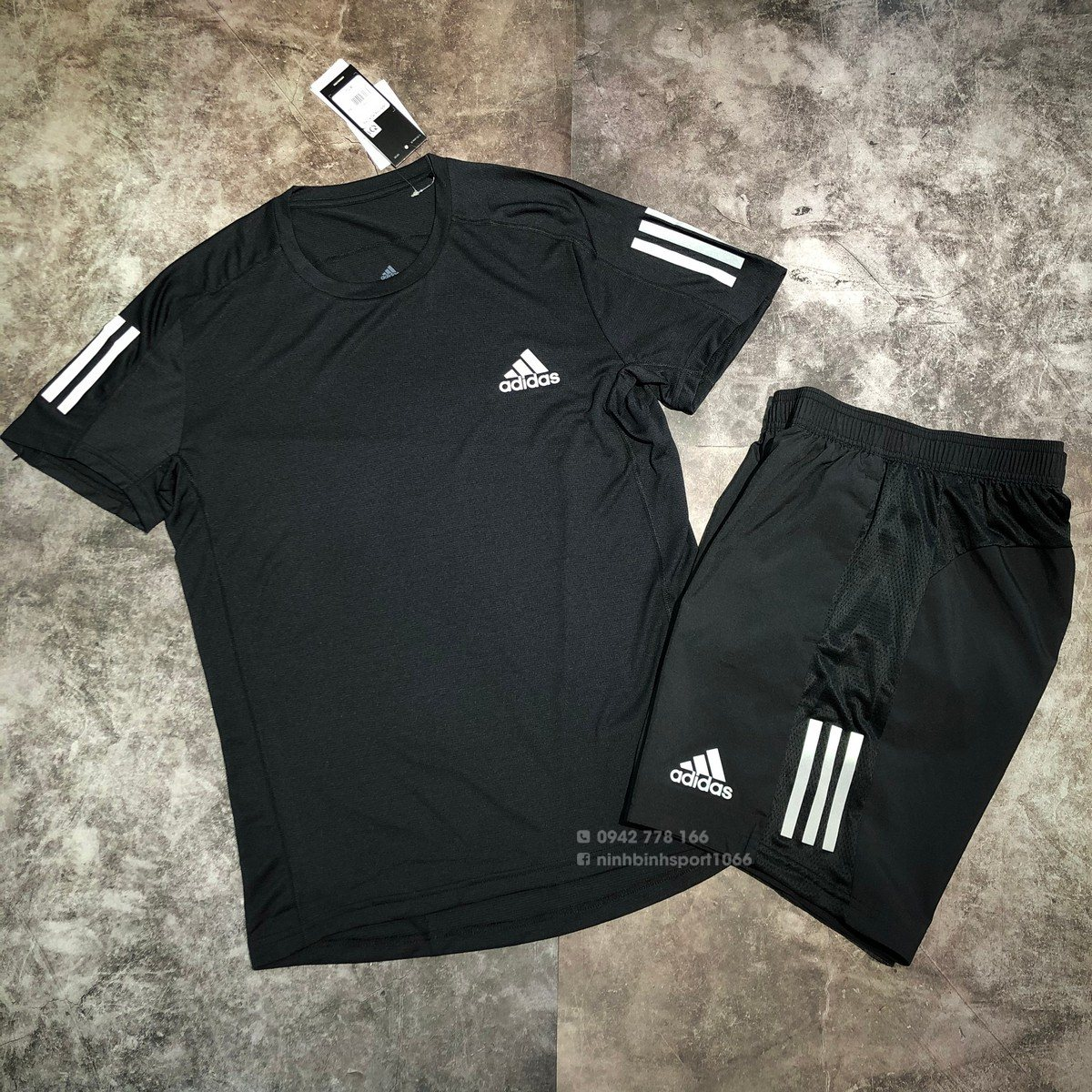 Áo thể thao nam Adidas Own the Run Cooler Tee Black GC7873