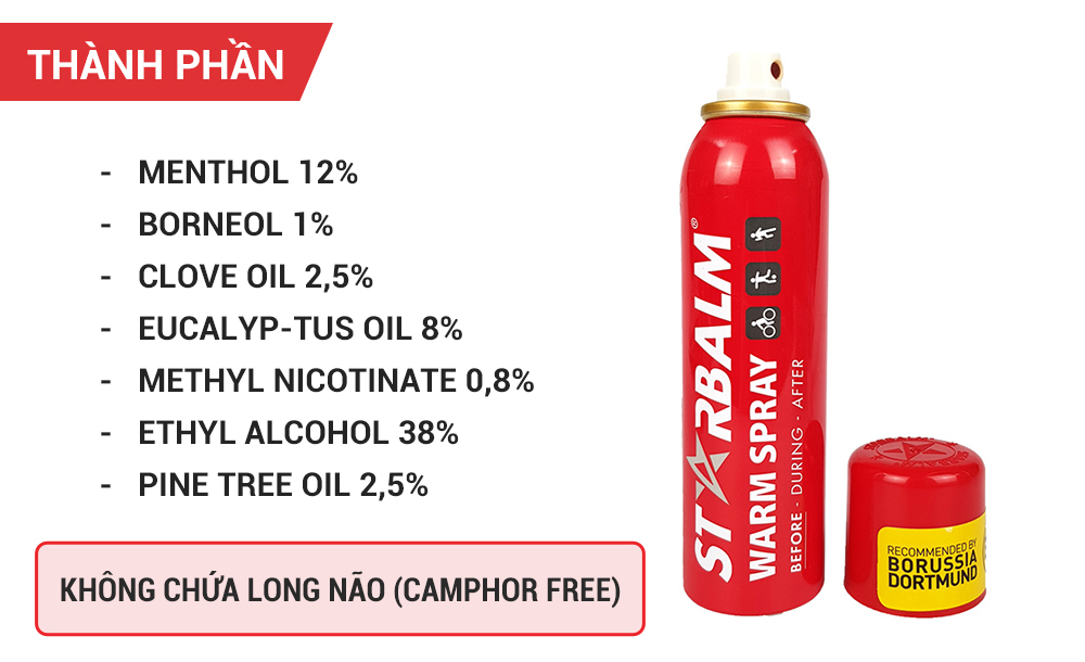 Chai Xịt Nóng Starbalm Warm Spray 150ml
