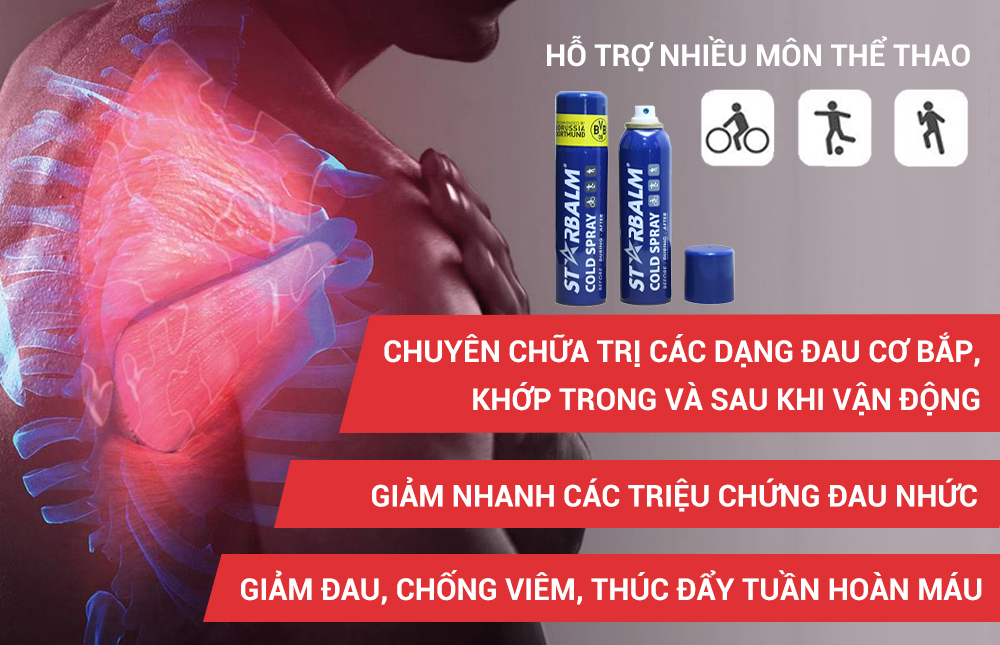 Chai Xịt Lạnh Starbalm Cold Spray 150ml