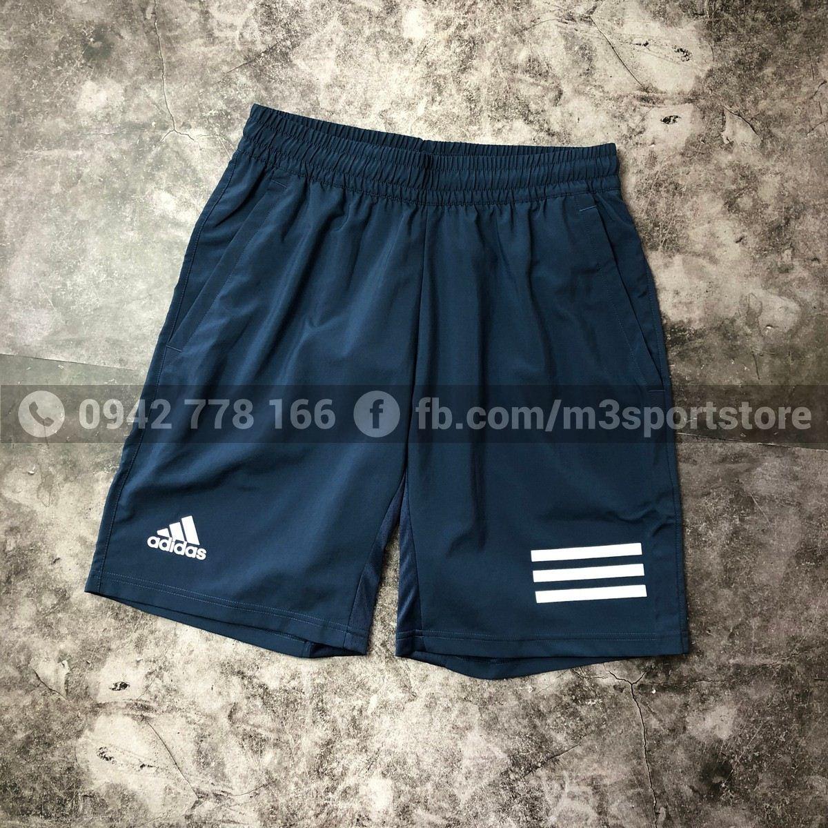 Quần short thể thao nam Adidas Club 3 Stripe GH7225