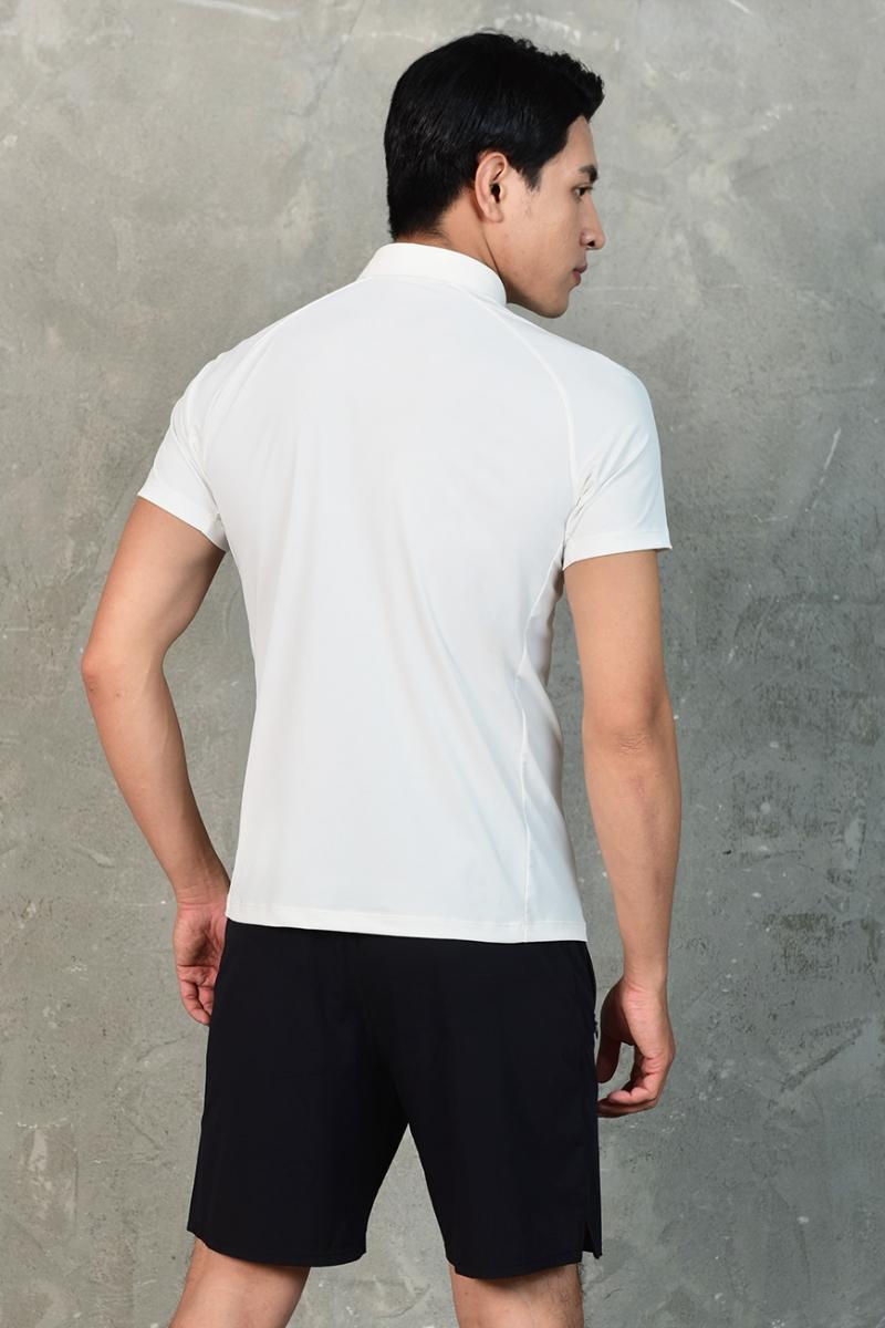 Áo Polo nam cổ vải màu trắng LV20221021