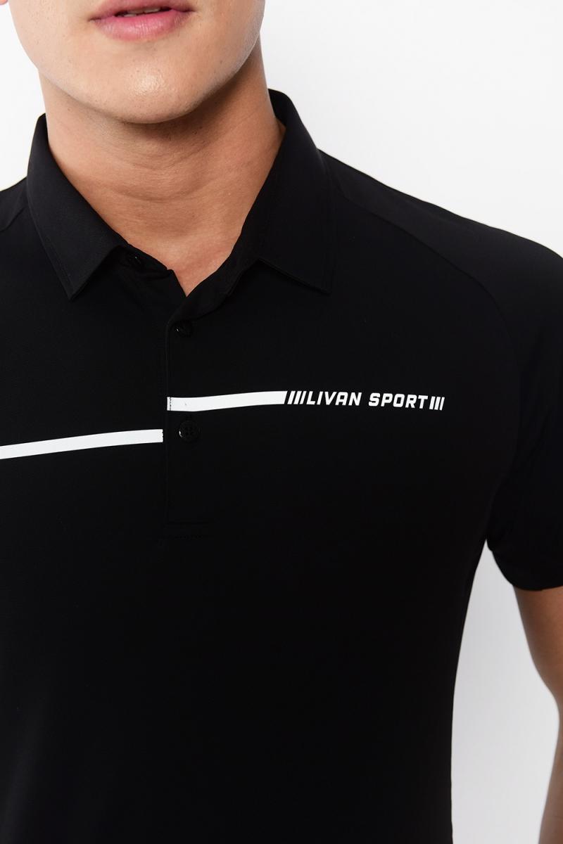 Áo Polo nam cổ vải màu đen LV14221021
