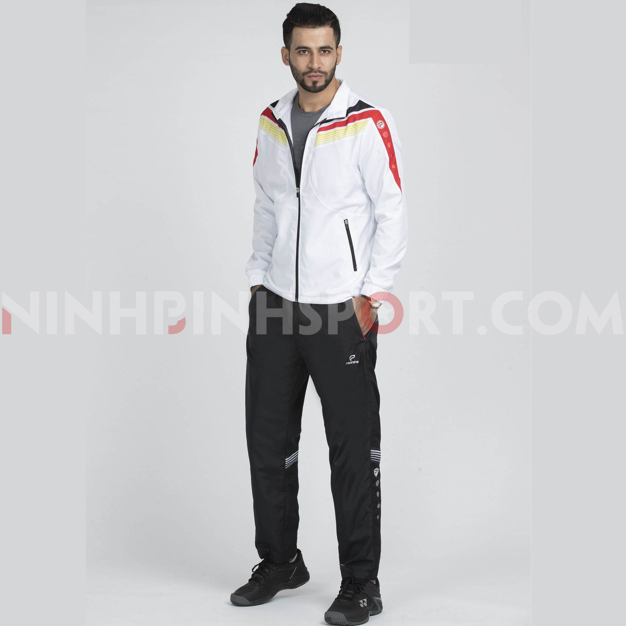 Bộ thể thao nam Donex Trắng MDE-243-01-08