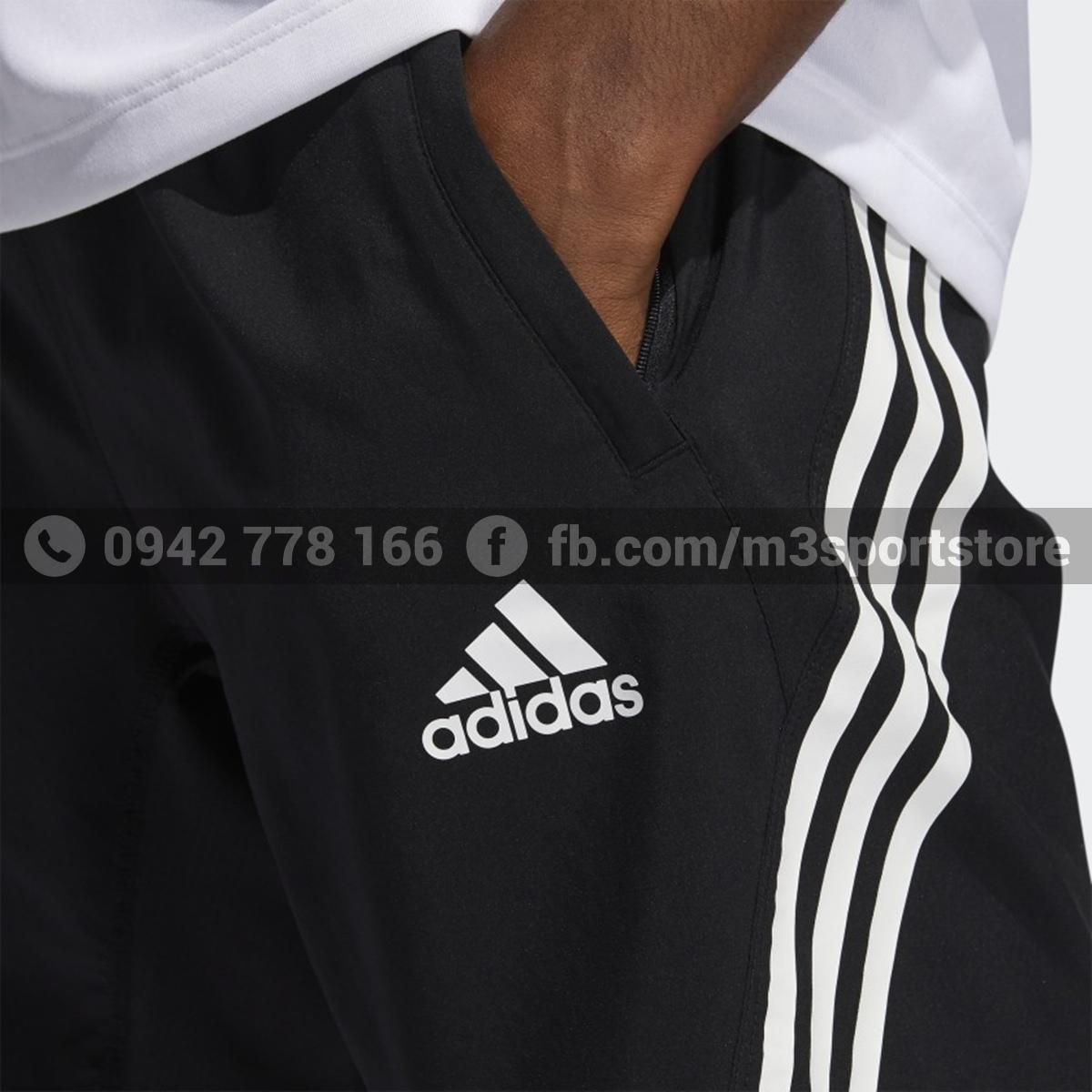Quần short thể thao nam Adidas 3 sọc Aeroready GM0643