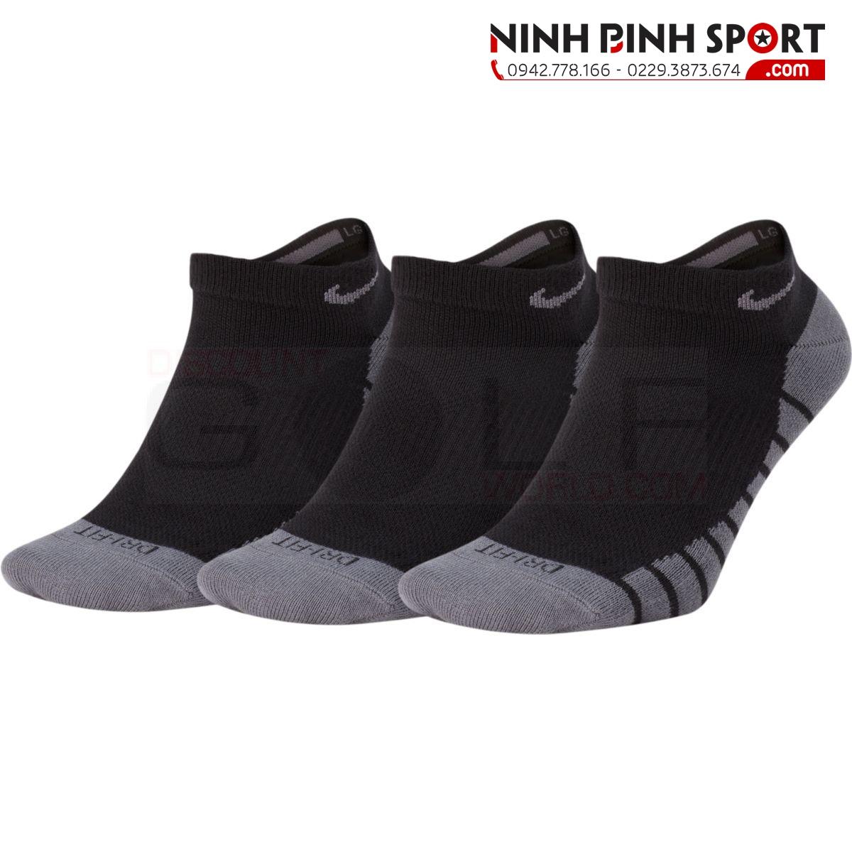 Tất Nike Lightweight No Show Golf Socks 3-Pair SG0781-010