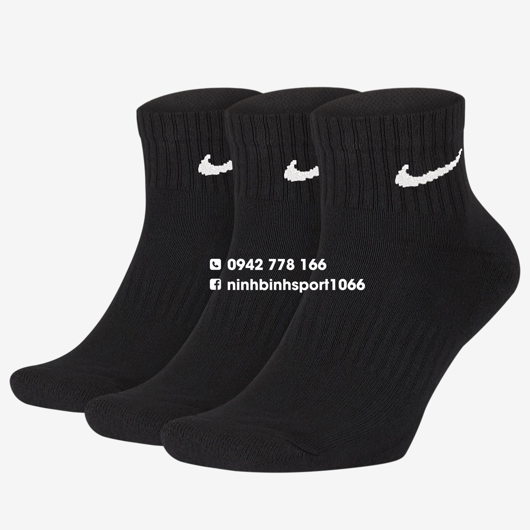 Tất thể thao Nike Everyday Cushioned Ankle SX7667-010