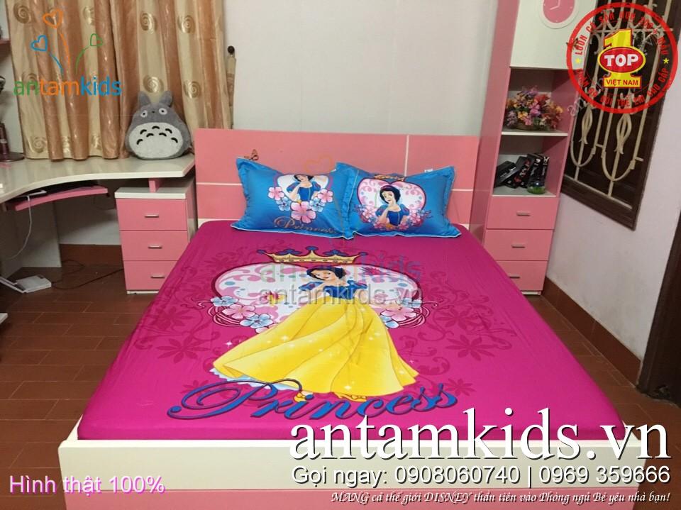 Bộ ga gối hình Công chúa DisneyNàngBạch Tuyết - Snow White cho em bé gái