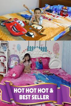 Chăn ga gối trẻ em cao cấp hoạt hình cho bé trai bé gái antamkidsvn