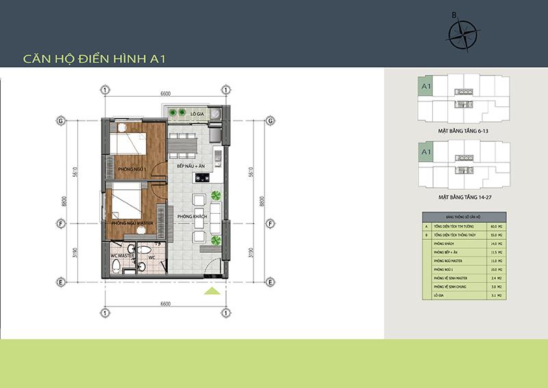 Căn gócsố 2 - căn hộ A1 chung cư 89 Thịnh Liệt