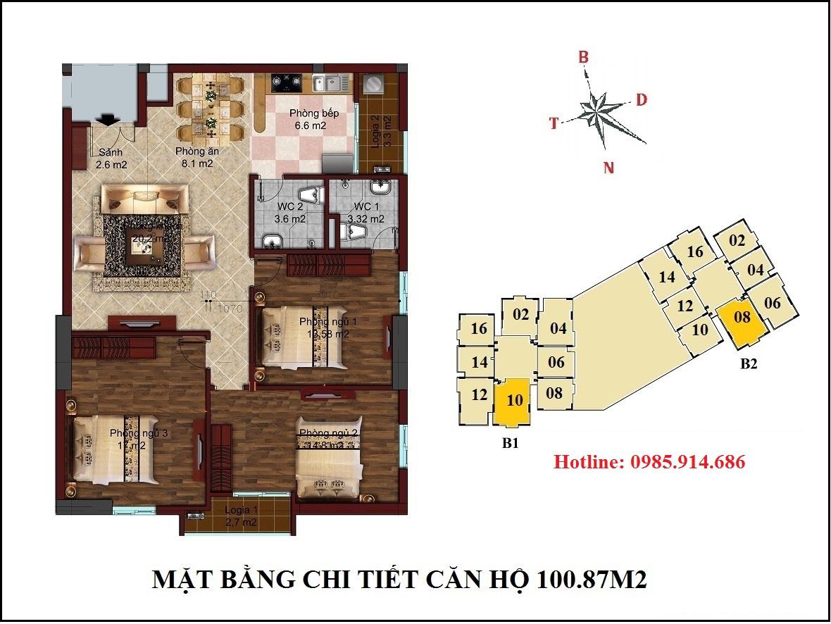 Chung cư B1B2 CT2 Tây Nam Linh Đàm 6