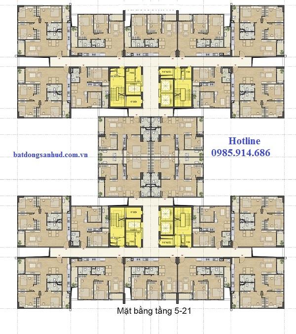 Mặt bằng thiết kế chung cư 60 Nguyễn Đức Cảnh