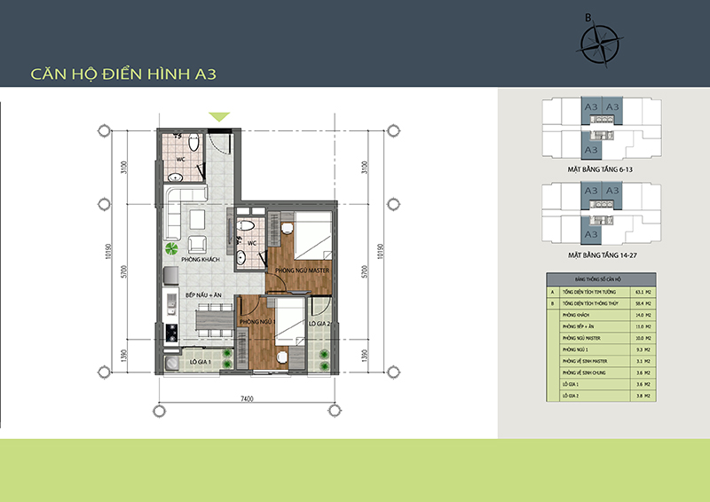 Mẫu thiết kế A3 chung cư 89 Thịnh Liệt