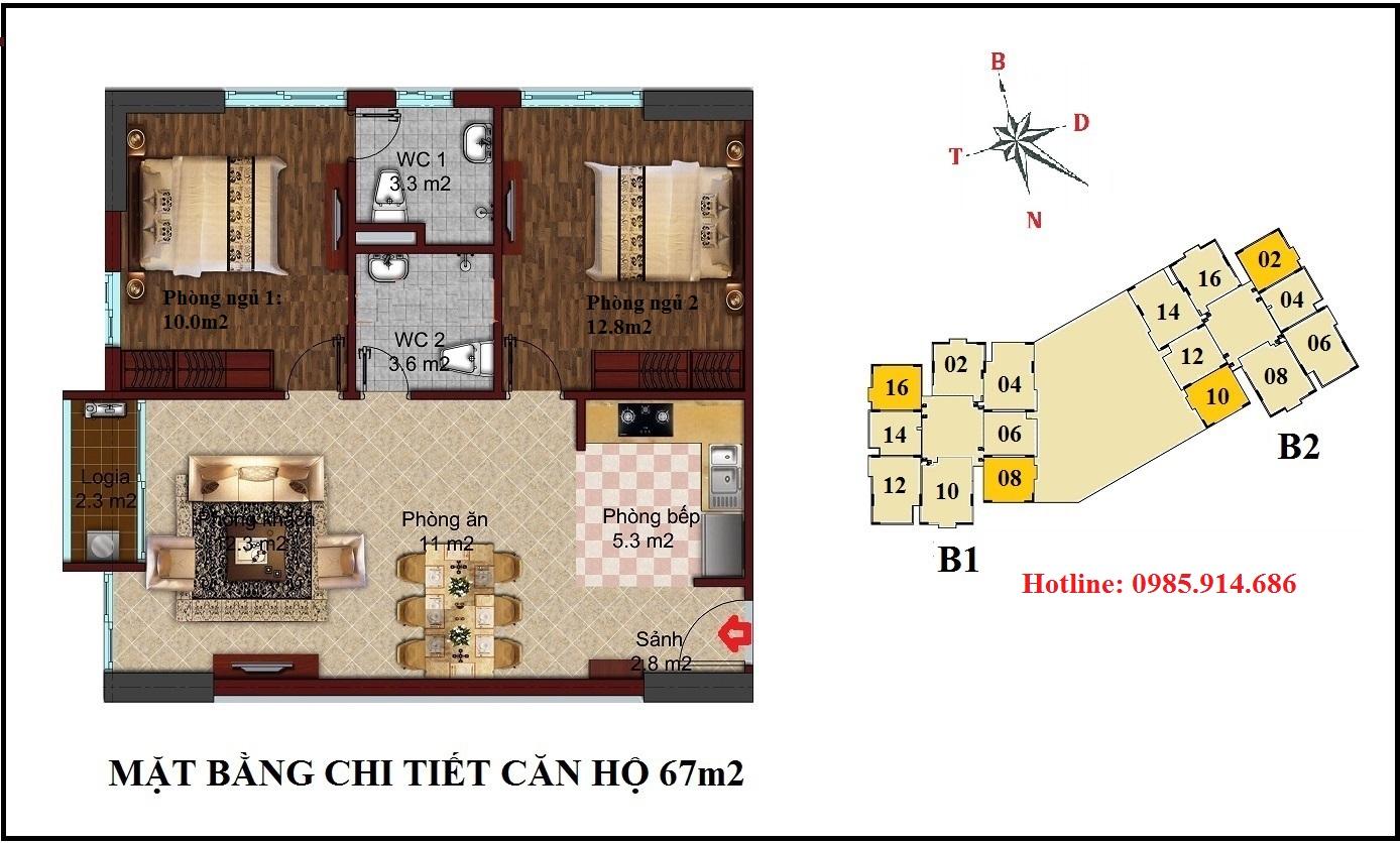 Chung cư B1B2 CT2 Tây Nam Linh Đàm 2