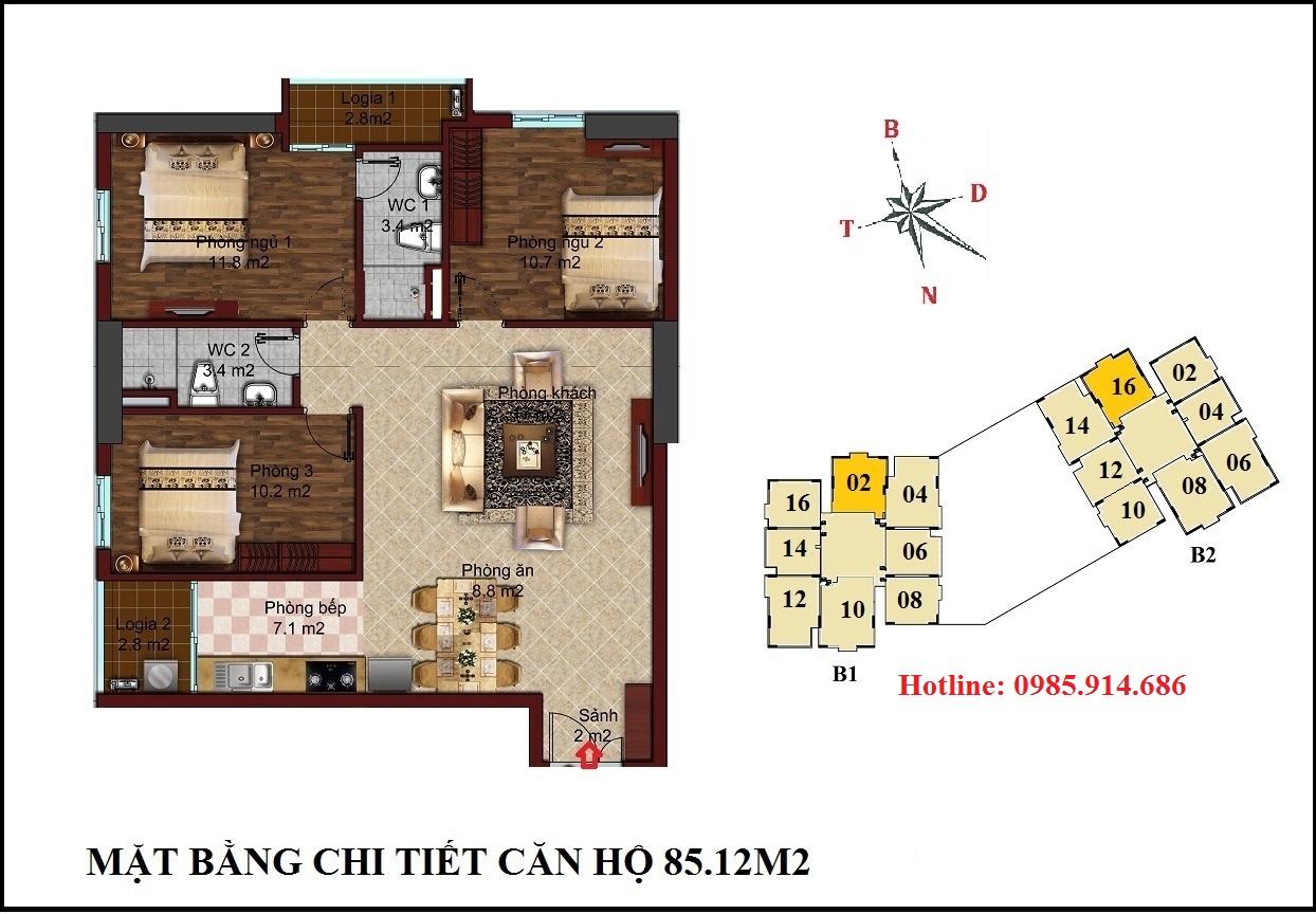 Chung cư B1B2 CT2 Tây Nam Linh Đàm 4