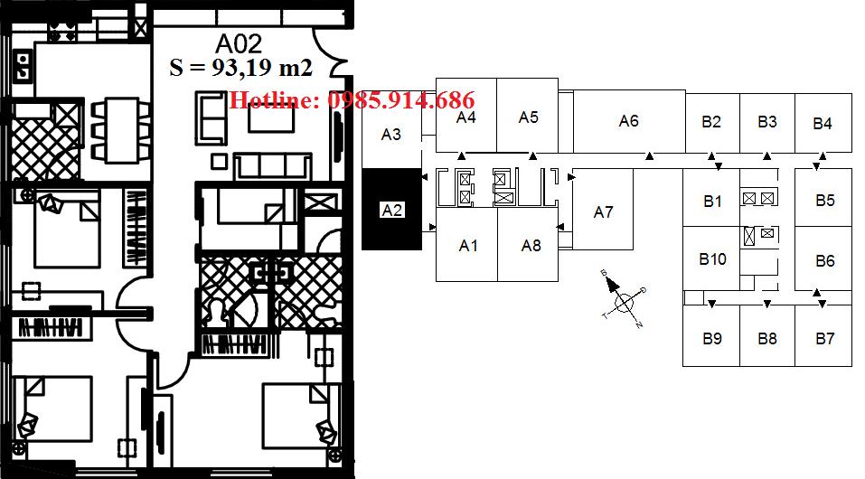 Căn A2 chung cư 122 Vĩnh Tuy