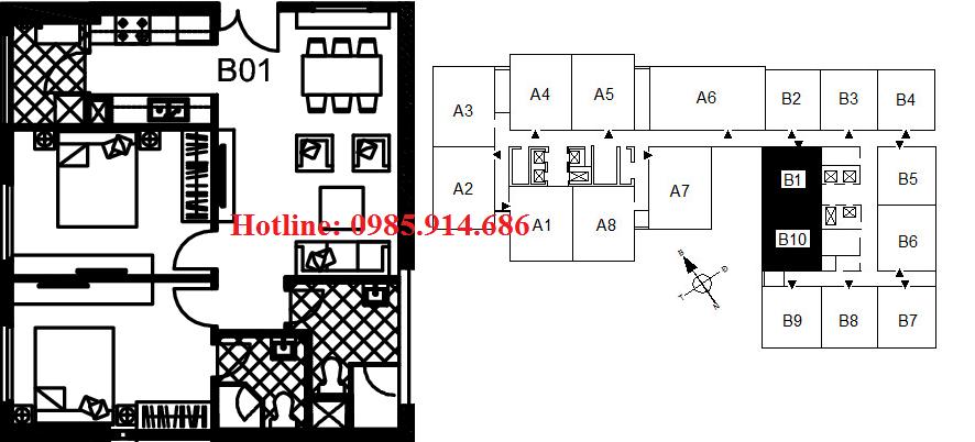 Căn B1, B10 chung cư 122 Vĩnh Tuy