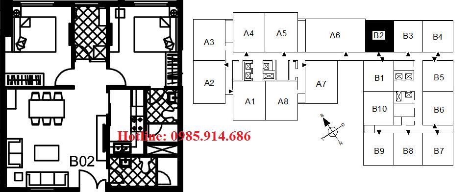Căn B2 chung cư 122 Vĩnh Tuy
