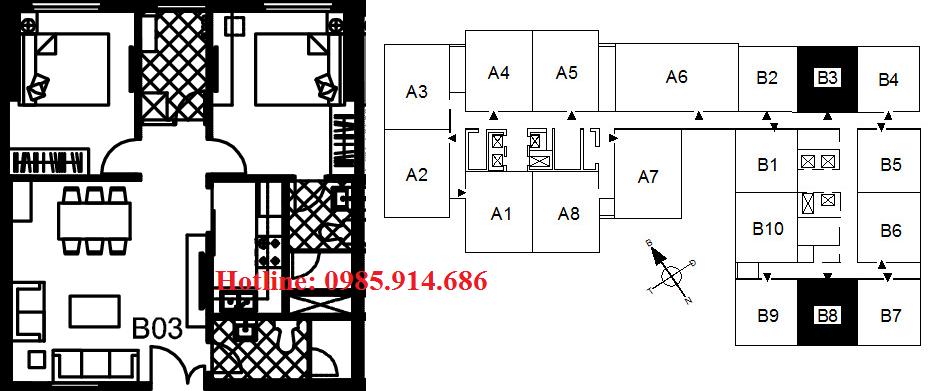 Căn B3, B8 chung cư 122 Vĩnh Tuy