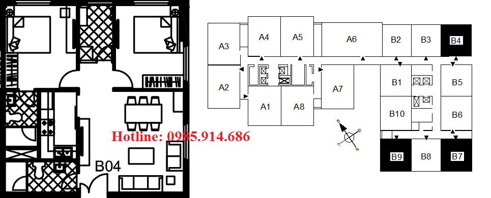 Căn B4 B7 B9 chung cư 122 Vĩnh Tuy