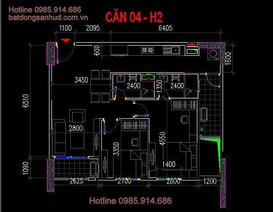 căn 04 tòa h2 chung cư 60 nguyễn đức cảnh