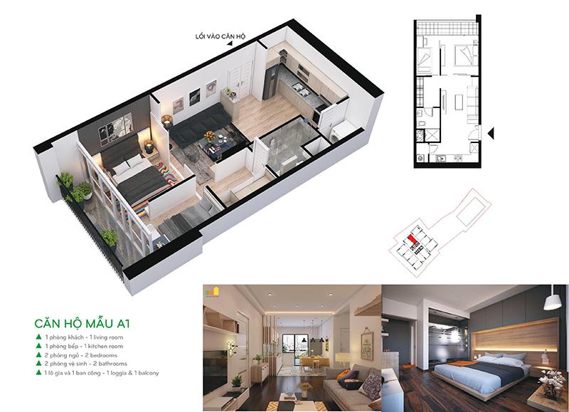 Bán căn hộ A1 chung cư 110 Cầu Giấy