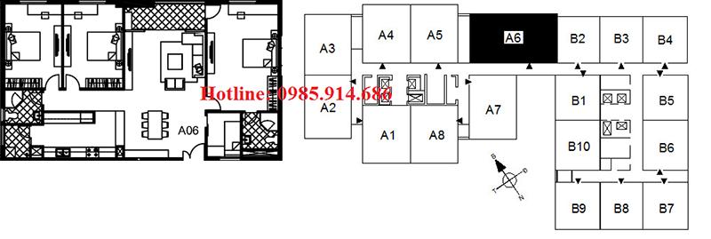 căn A6 chung cư 122 Vĩnh Tuy - Udic Riverside