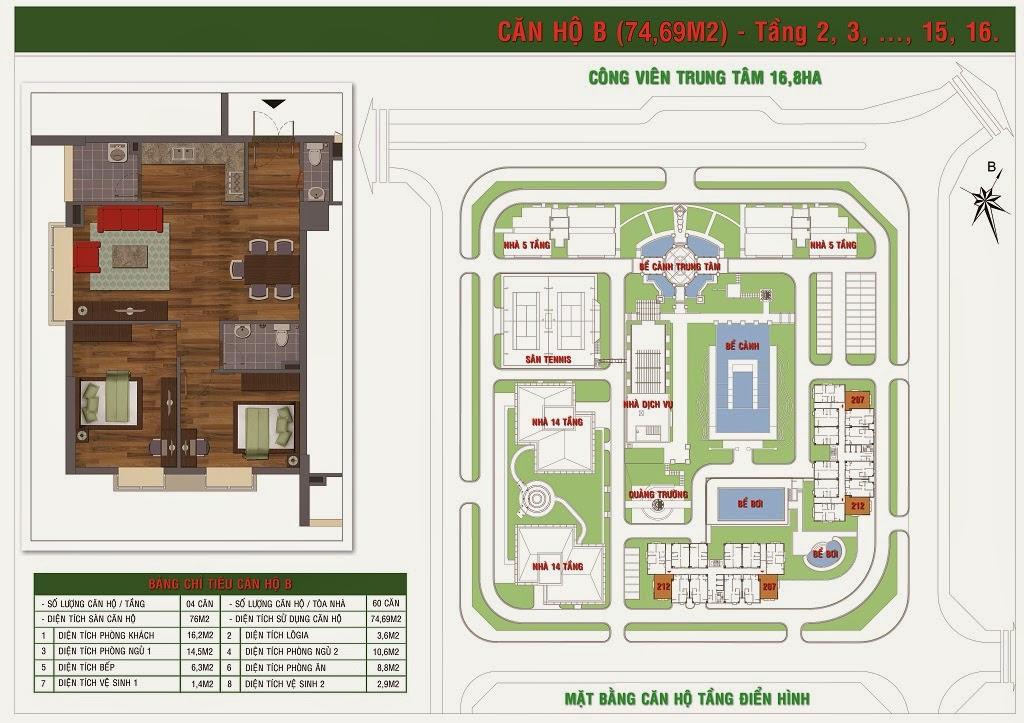 Chung cư GH5 và GH6 chung cư Green house Việt Hưng 2