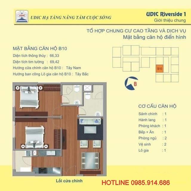 căn hộ B10 chung cư 122 Vĩnh Tuy
