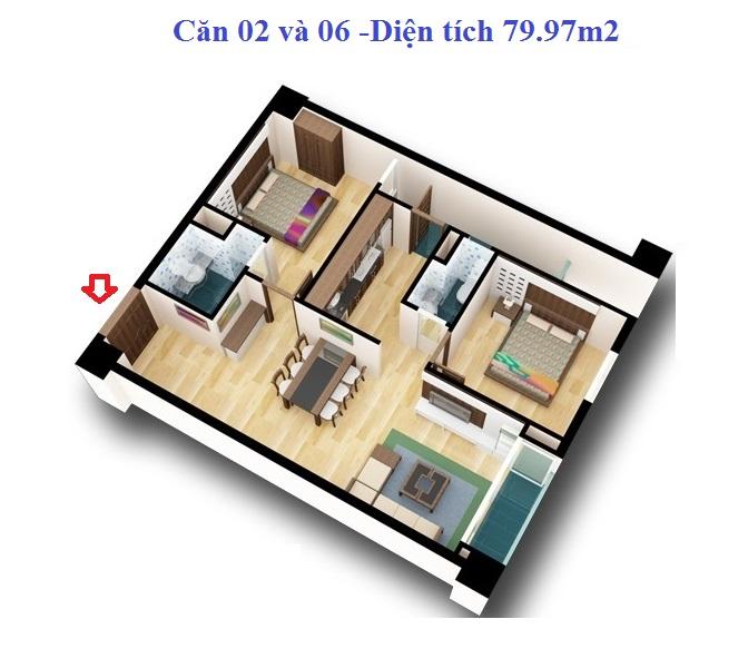 Chung cư d2ct2 Tây Nam Linh Đàm 3