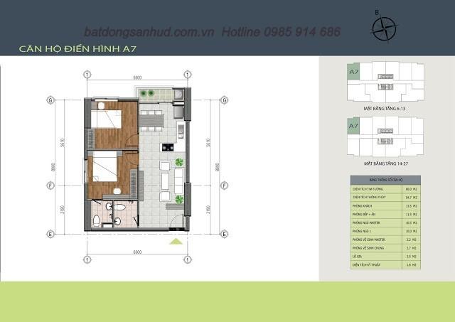 căn hộ số 01 chung cư Hồng Hà Tower 89 Thịnh Liệt