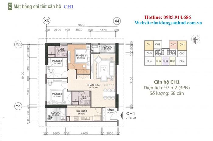 căn hộ CH1 chung cư A10 Nam Trung Yên