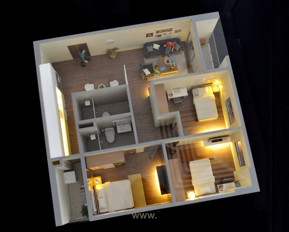 can 90.4 m2 chung cư 60 nguyễn đức cảnh