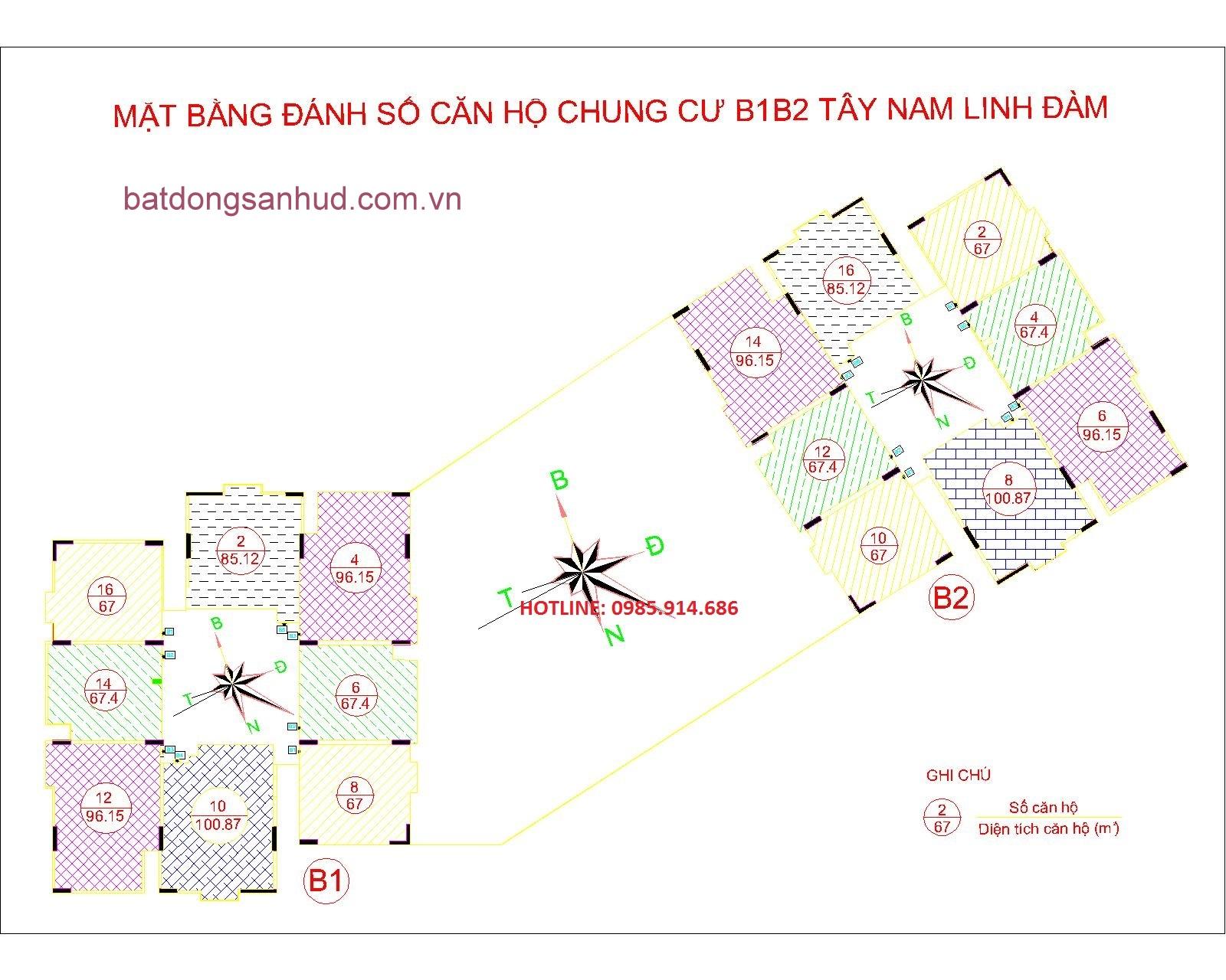 chung cư b1b2 tây nam linh đàm
