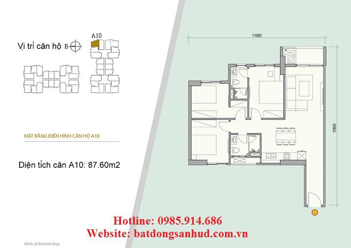 Căn A10 chung cư 176 Định Công
