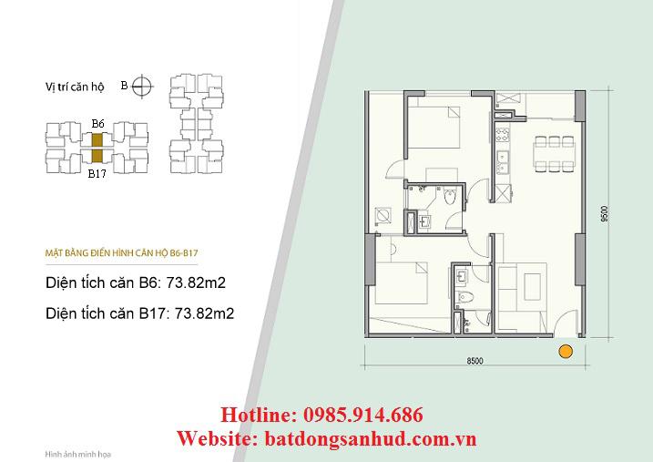 Căn B6, căn B17 chung cư 176 Định Công