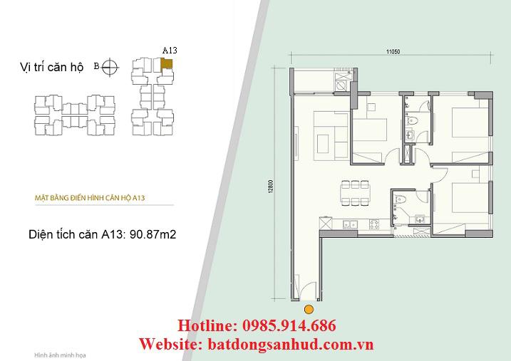 Căn A13 chung cư 176 Định Công