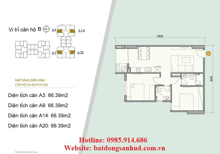 Căn A3, căn A9 chung cư 176 Định Công