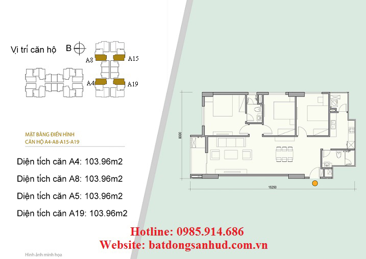 Căn A15, căn A19 chung cư Green Life Complex