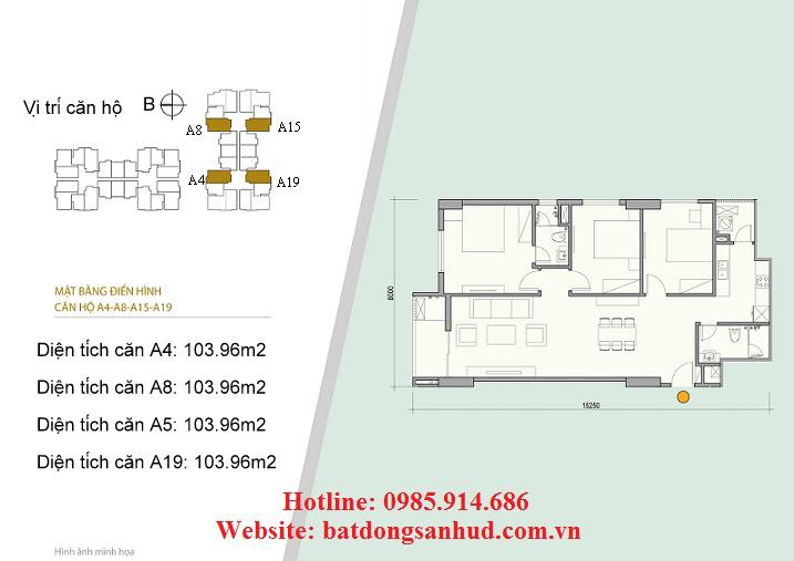 căn hộ 3 phòng ngủ diện tích lớn nhất tòa Block A chung cư Green Life Complex Định Công