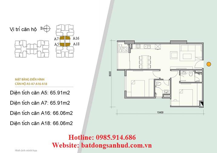 Căn A5, A7 chung cư Green Life Complex