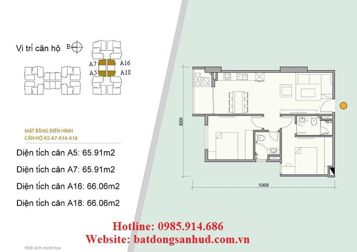 Căn hộ A5 chung cư 176 Định Công