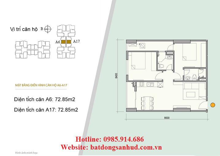 Căn A17 chung cư 176 Định Công