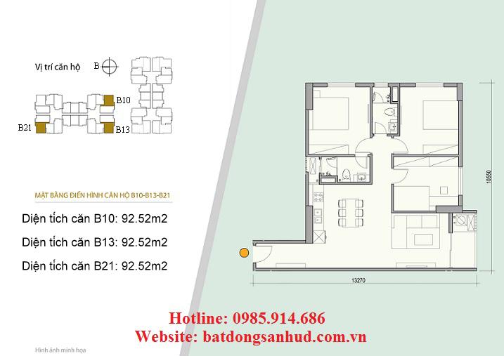 Căn B10, căn B13 chung cư 176 Định Công
