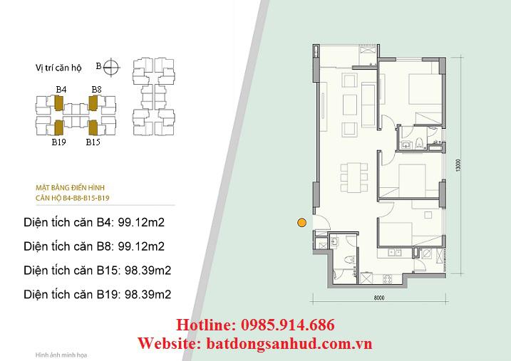 căn hộB19 chung cư số 176 Định Công
