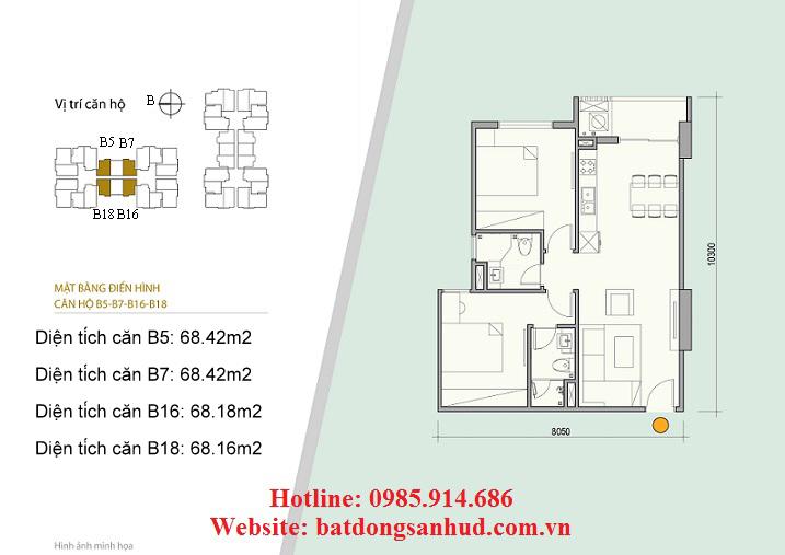 căn hộ B18 chung cư số 176 Định Công