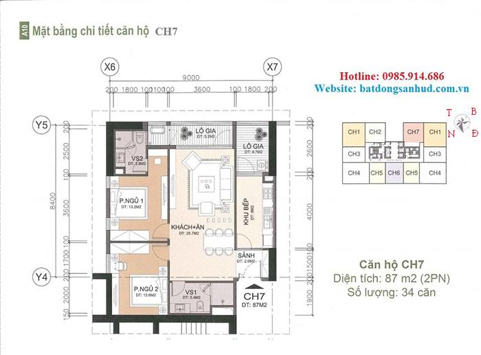 căn hộ 87 m2 chung cư A10 Nam Trung Yên